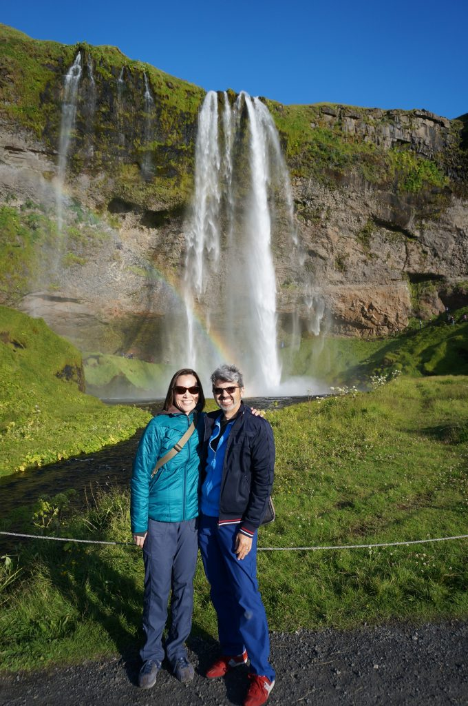 Iceland - Us at Seljalandsfoss