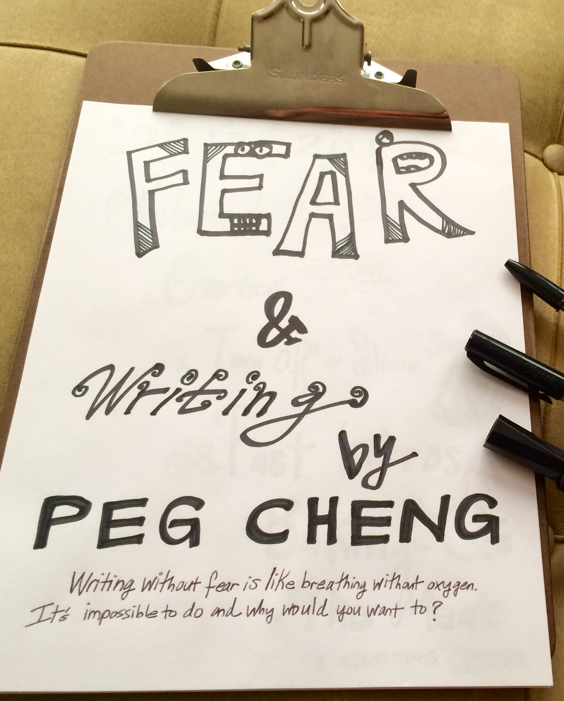 The Story Behind Fear & Writing