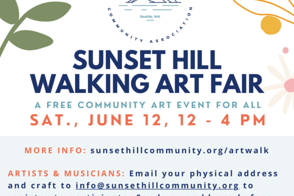 Sunset Hill Walking Art Fair on June 12, 2021