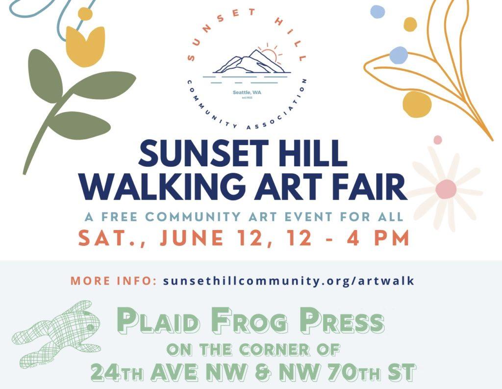 Plaid Frog Press at the 2021 Sunset Hill Walking Art Fair